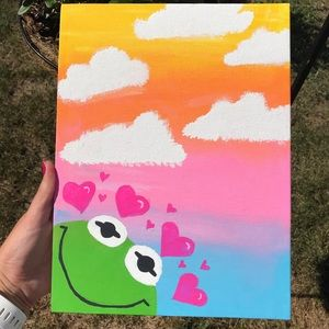 10x12 canvass Kermit painting